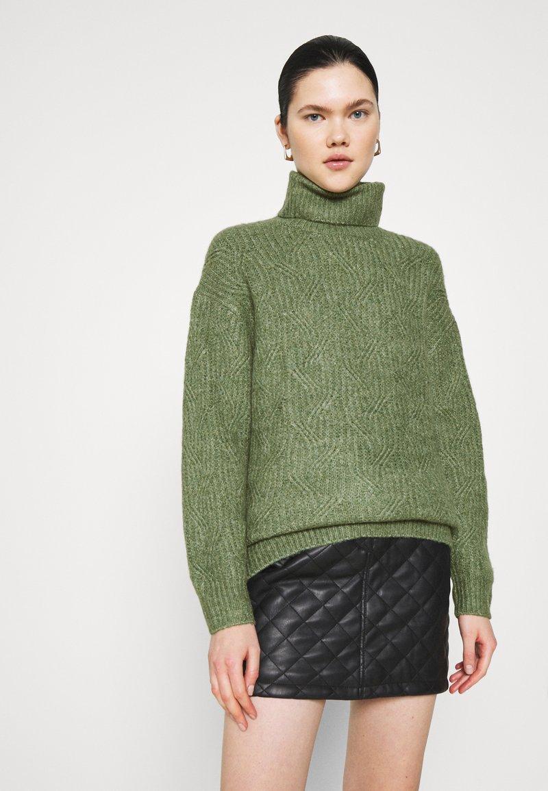 Monki - PARISA - Strikkegenser - khaki green