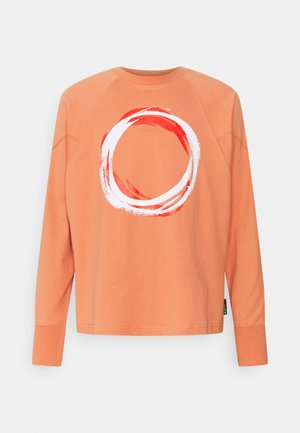 SHAPES TRIANGLE GRAPHIC CREW UNISEX - Long sleeved top - healing clay