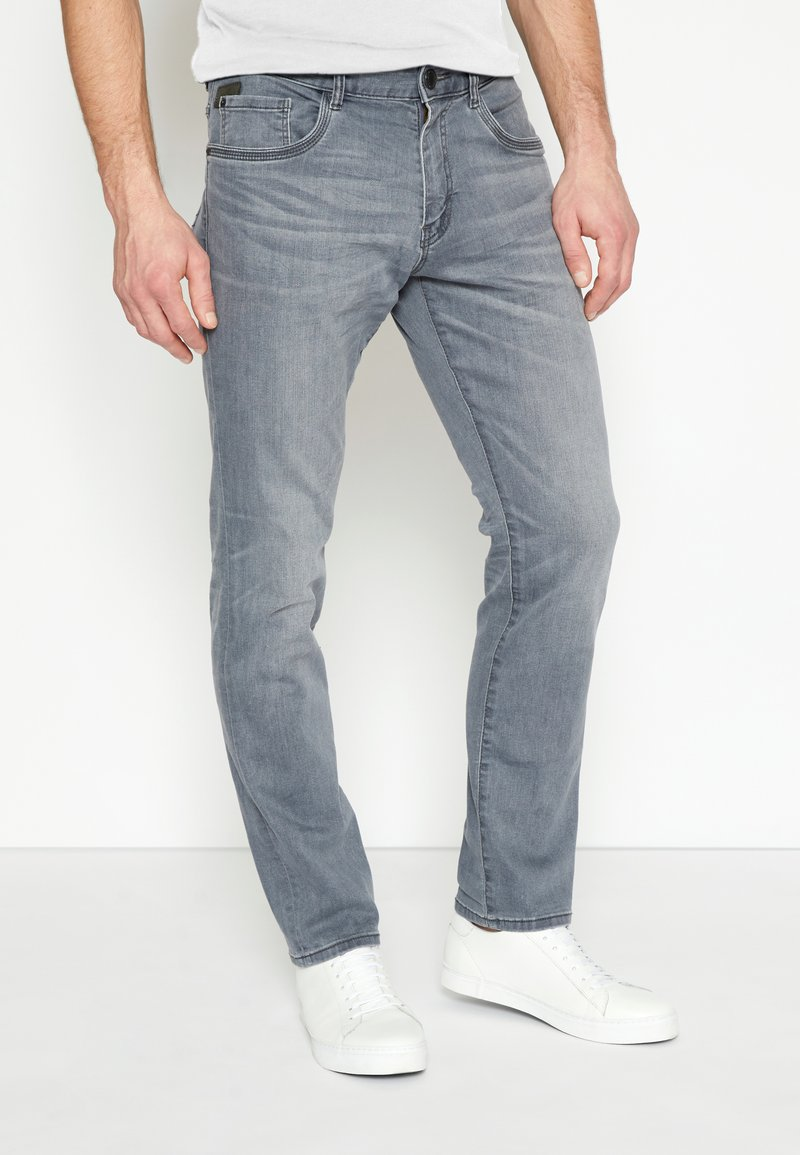TOM TAILOR - JOSH - Straight leg jeans - grey denim