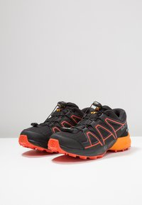 Salomon - SPEEDCROSS CSWP - Hiking shoes - black/tangelo/cherry tomato