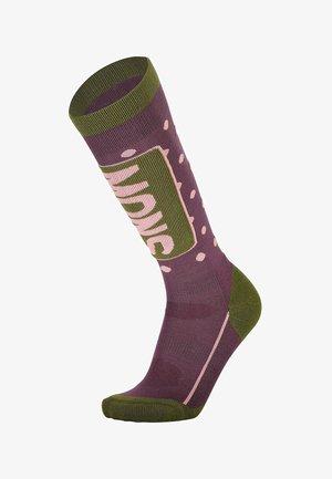 Socks - blackberry/avocado