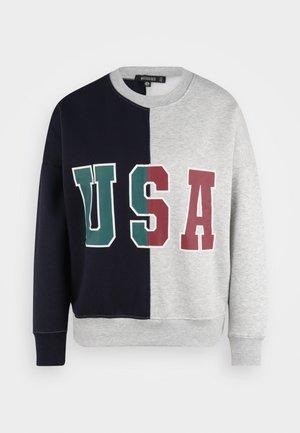 USA COLOUR BLOCK SWEATER - Sweater - grey