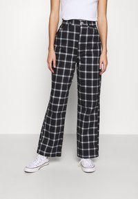 Topshop - CHECK CARPENTER - Trousers - navy - 0
