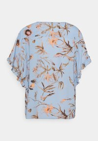 Mos Mosh - TARA THISTLE BLOUSE - Print T-shirt - bel air blue - 1