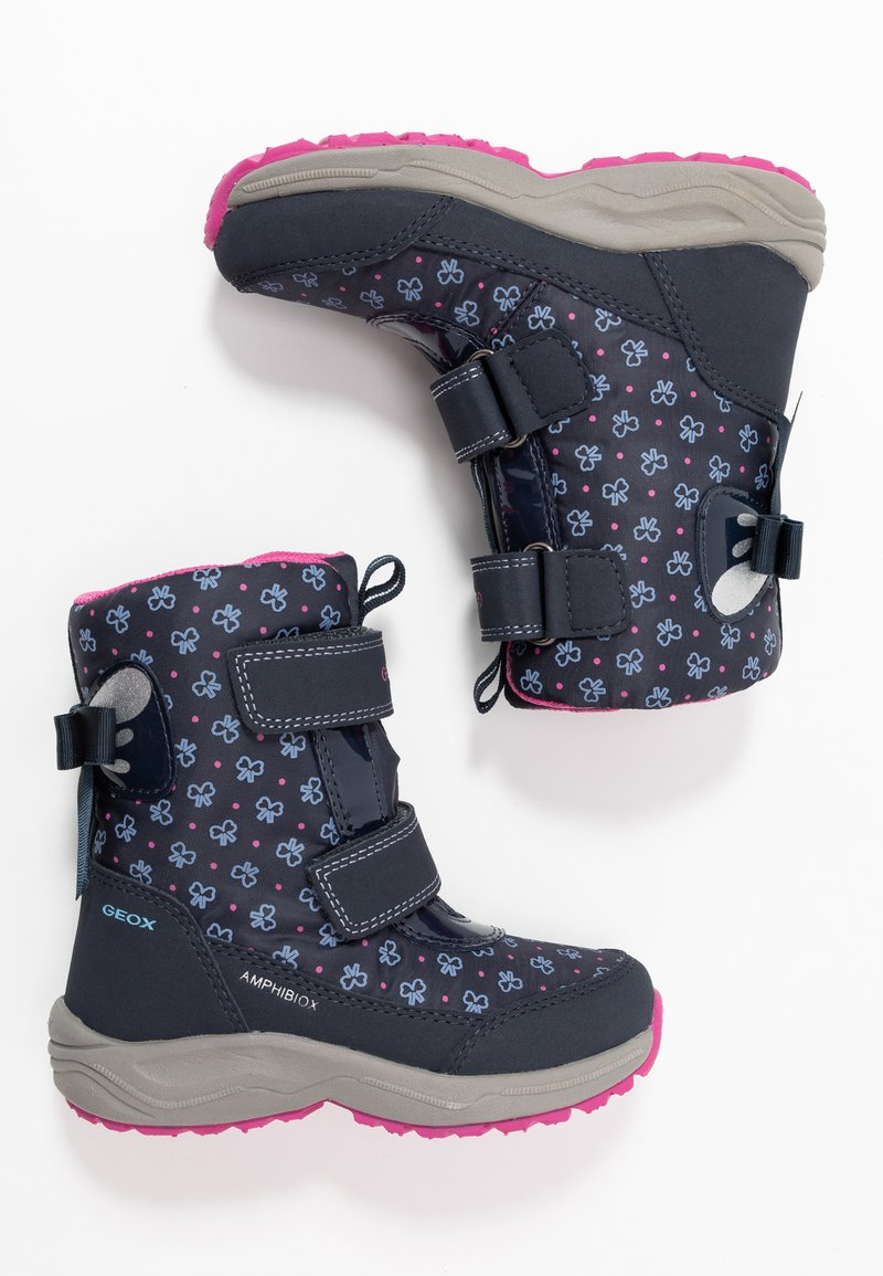 Geox - KURAY GIRL  - Zimní obuv - navy