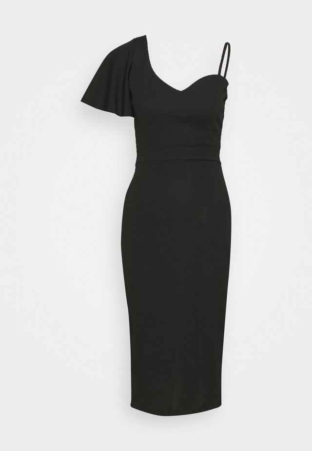 SLEEVE MIDI DRESS - Jersey dress - black