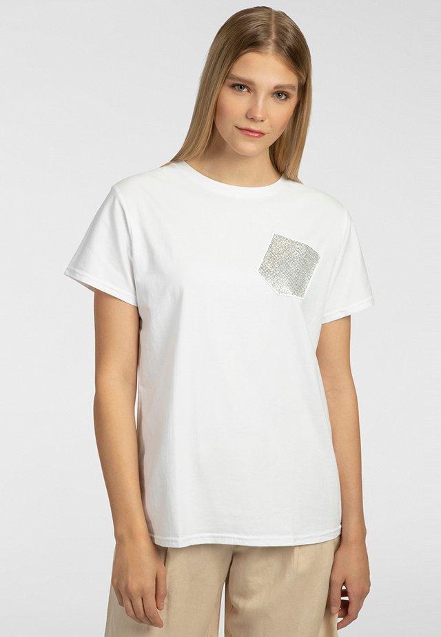 T-shirt imprimé - offwhite