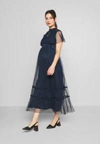 Anaya with love Maternity - KEYHOLE FRONT SHORT SLEEVE MIDI DRESS  - Occasion wear - navy - 1