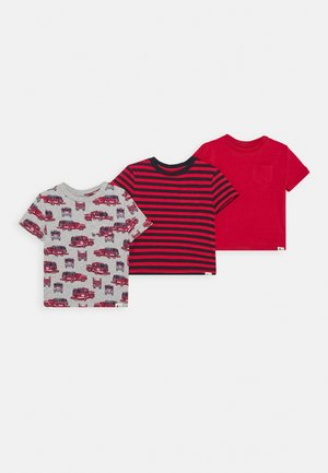 TODDLER BOY 3 PACK - Triko s potiskem - modern red