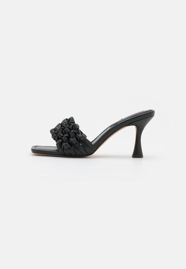 MULTIKNOT - Heeled mules - black