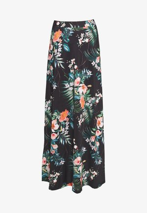 Maxi skirt - black/multicoloured