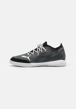 ULTRA 1.2 PRO COURT - Indoor football boots - black/glacier gray/elektro green/elektro pool