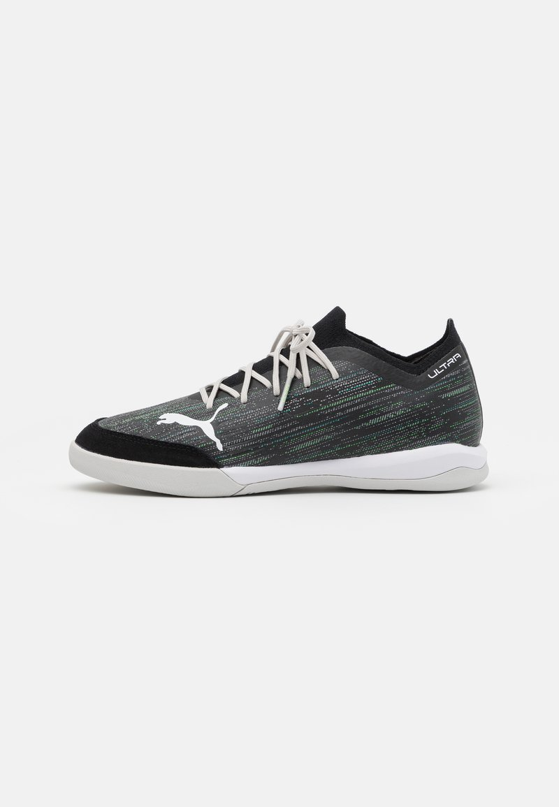 Puma - ULTRA 1.2 PRO COURT - Indoor football boots - black/glacier gray/elektro green/elektro pool