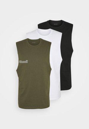 3 PACK - Top - olive/black/white