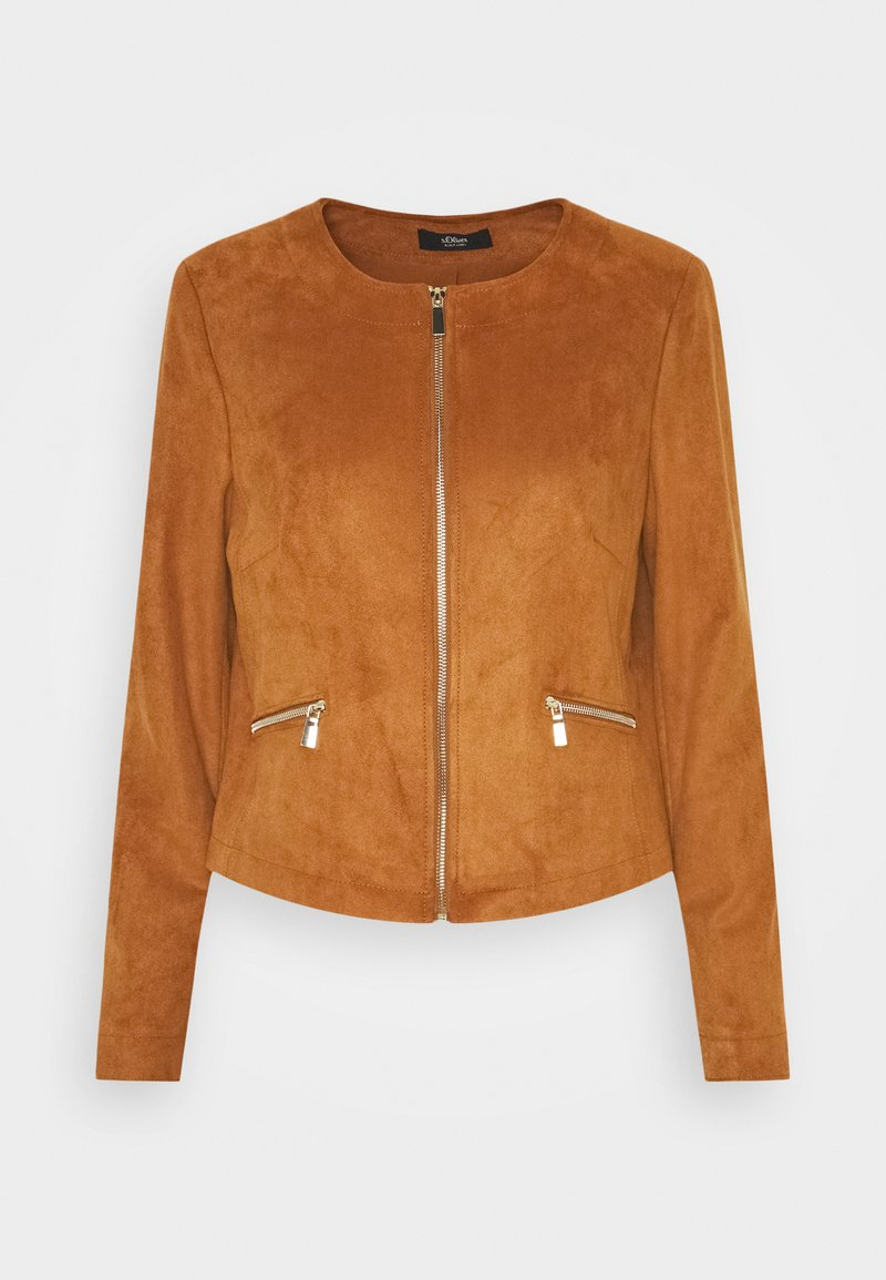 s.Oliver BLACK LABEL - Faux leather jacket - peanut bro