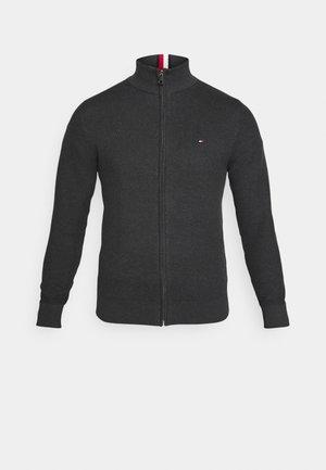 EXAGGERATED STRUCTURE - Cardigan - dark grey heather