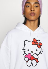 NEW girl ORDER - LOGO HOODY - Sweatshirt - white - 3