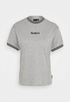 STRIPE TRIMS BOY TEE - T-shirts med print - grey