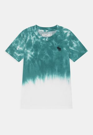 CURVED HEM - Print T-shirt - green