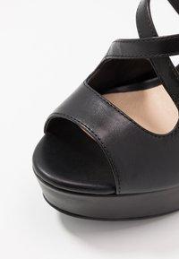 Even&Odd - LEATHER - Korolliset sandaalit - black - 2