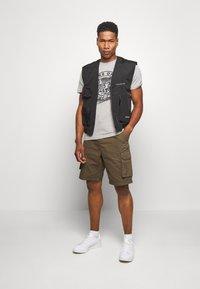 Jack & Jones - JORSOLEX CREW NECK - T-shirt print - light grey - 1