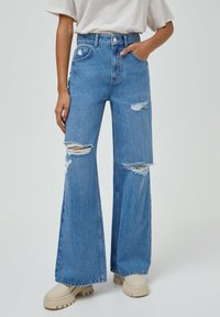 PULL&BEAR - Flared jeans - blue - 0