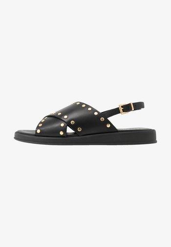 HANNAH STUDS - Sandals - black