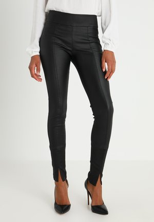 BELUS SLIT PANTS KATY ANKLE - Leggings - pitch black