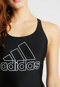 adidas Performance - FIT SUIT - Swimsuit - black - 4