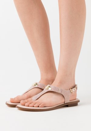 PLATE THONG - T-bar sandals - rose gold