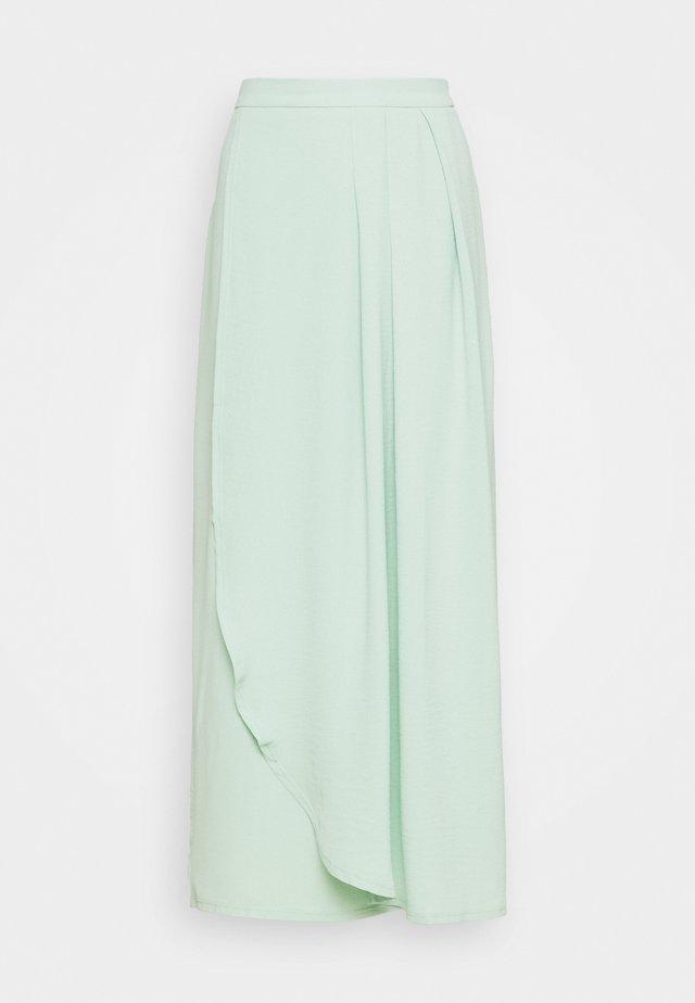VIRASHA ANCLE SKIRT - Wrap skirt - cameo green