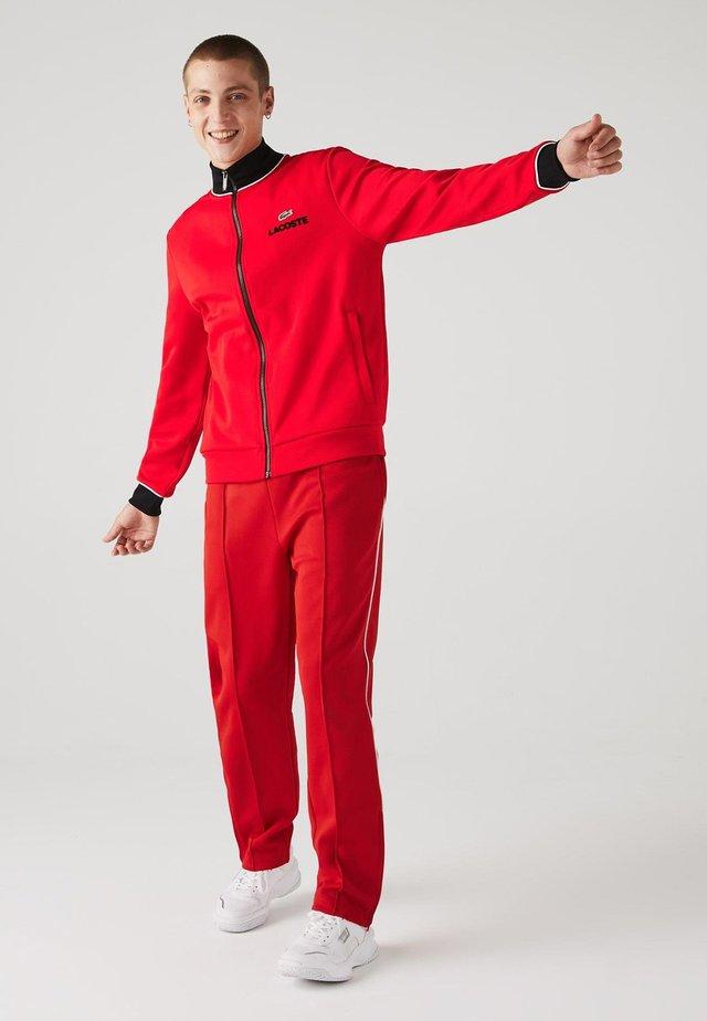 Veste de survêtement - rouge / noir / blanc