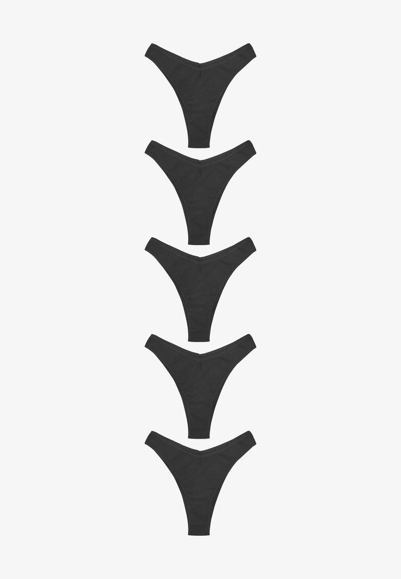 Next - 5 PACK - Thong - metallic black