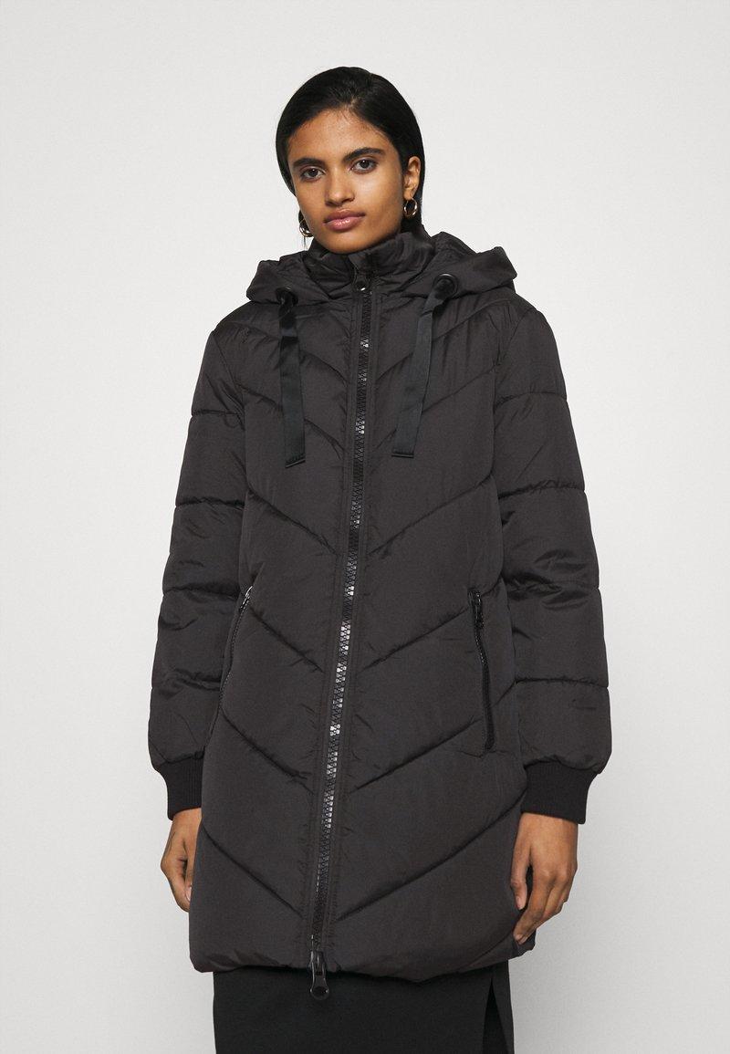 JDY - JDYSKYLAR PADDED HOOD JACKET - Winter coat - black