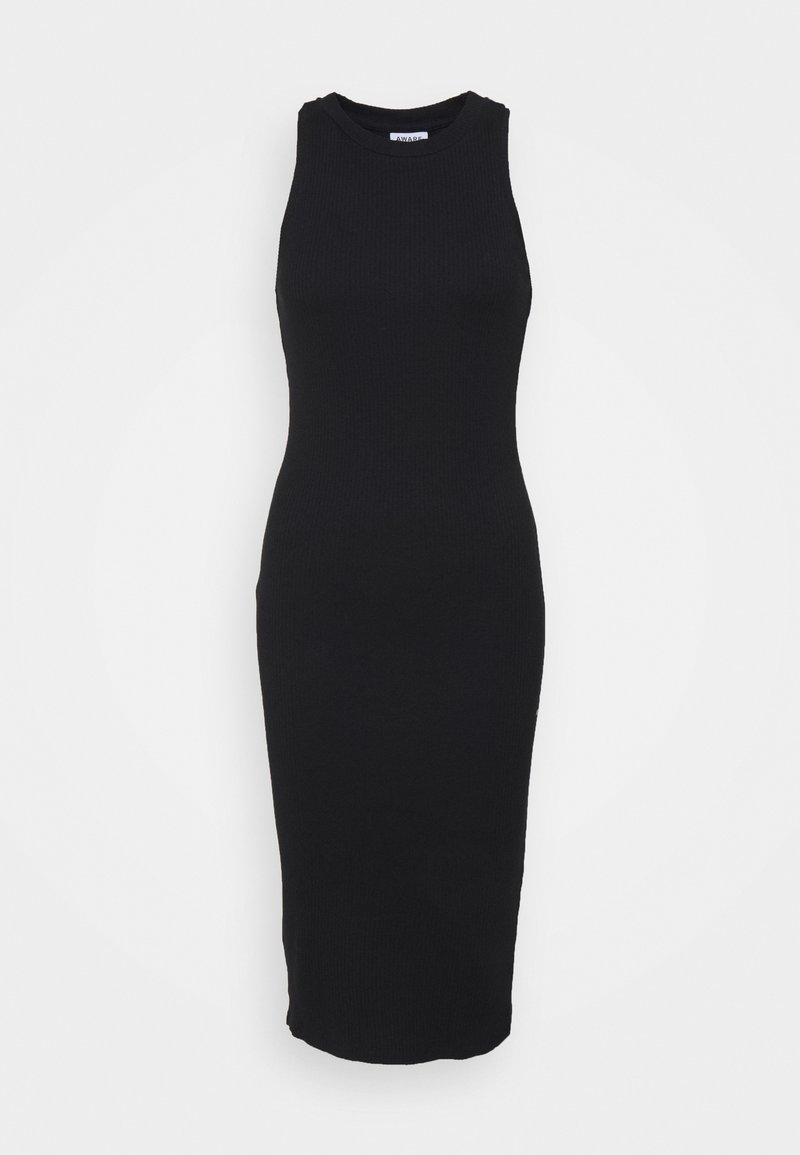 Vero Moda Petite - VMLAVENDER CALF DRESS - Vestido de punto - black