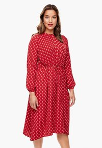 Triangle - MIT ORNAMENTALEM MUSTER - Day dress - red aop - 0