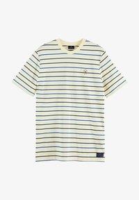 Scotch & Soda - T-shirt med print - light yellow - 3