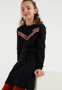 WE Fashion - Gebreide jurk - black - 2