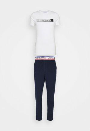 JACSIMON LONG PANTS SET - Pyjama - maritime blue/white