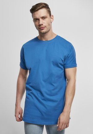 LONG SHAPED TURNUP TEE - Basic T-shirt - sporty blue