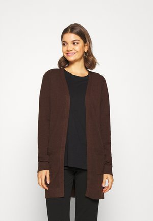 OBJTHESS CARDIGAN SEASONAL - Kardigan - chicory coffee melange