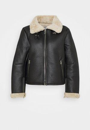 SHORT AVIATOR JACKET - Summer jacket - black