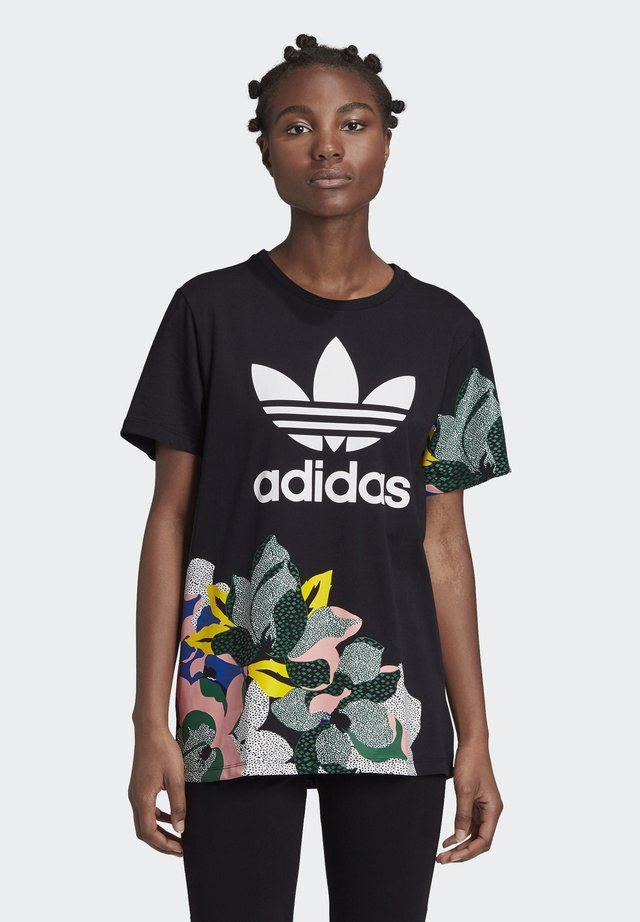 HER STUDIO LONDON LOOSE T-SHIRT - Printtipaita - black