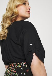 MY TRUE ME TOM TAILOR - BLOUSE WITH OPEN COLLAR - T-shirt basic - deep black - 4