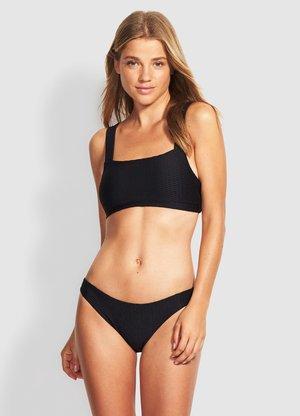LA LUNA V HIGH CUT  - Bikini bottoms - black