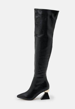 SPIRAL - Kozačky nad kolena - black