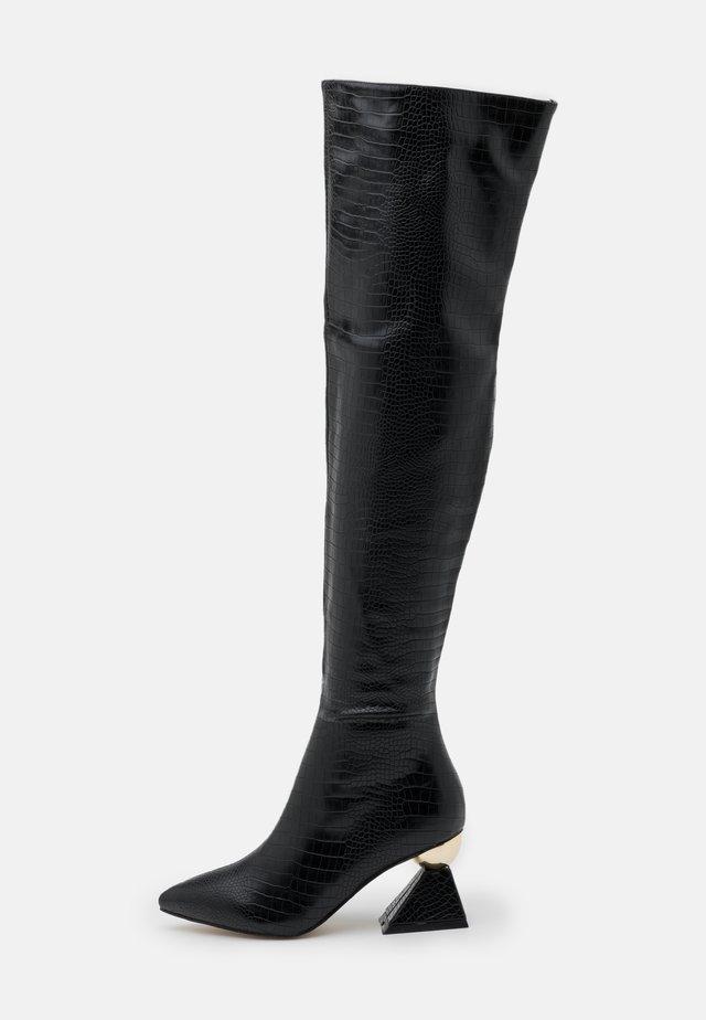 SPIRAL - Overknee laarzen - black