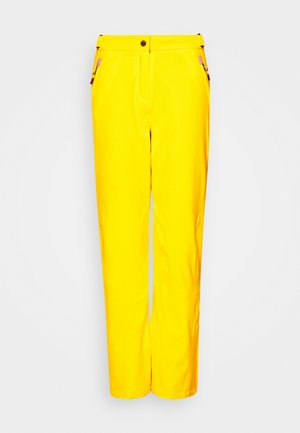 WOMAN PANT - Snow pants - yellow