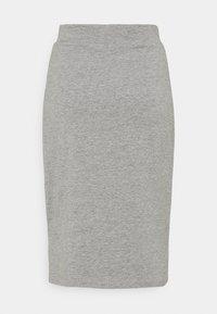 Even&Odd - BASIC - Midi skirt with slit - Pouzdrová sukně - mottled grey - 1