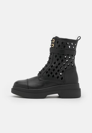 BOOT - Lace-up ankle boots - black